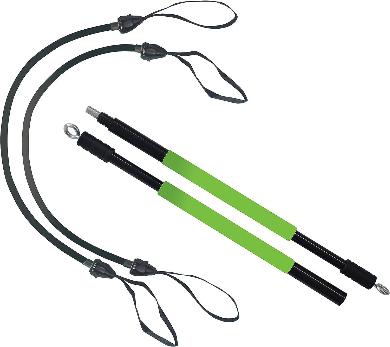 Schildkröt Fitness 960072 Gymnastic Stick, Set con un Baton y 2 Expansores Lineales