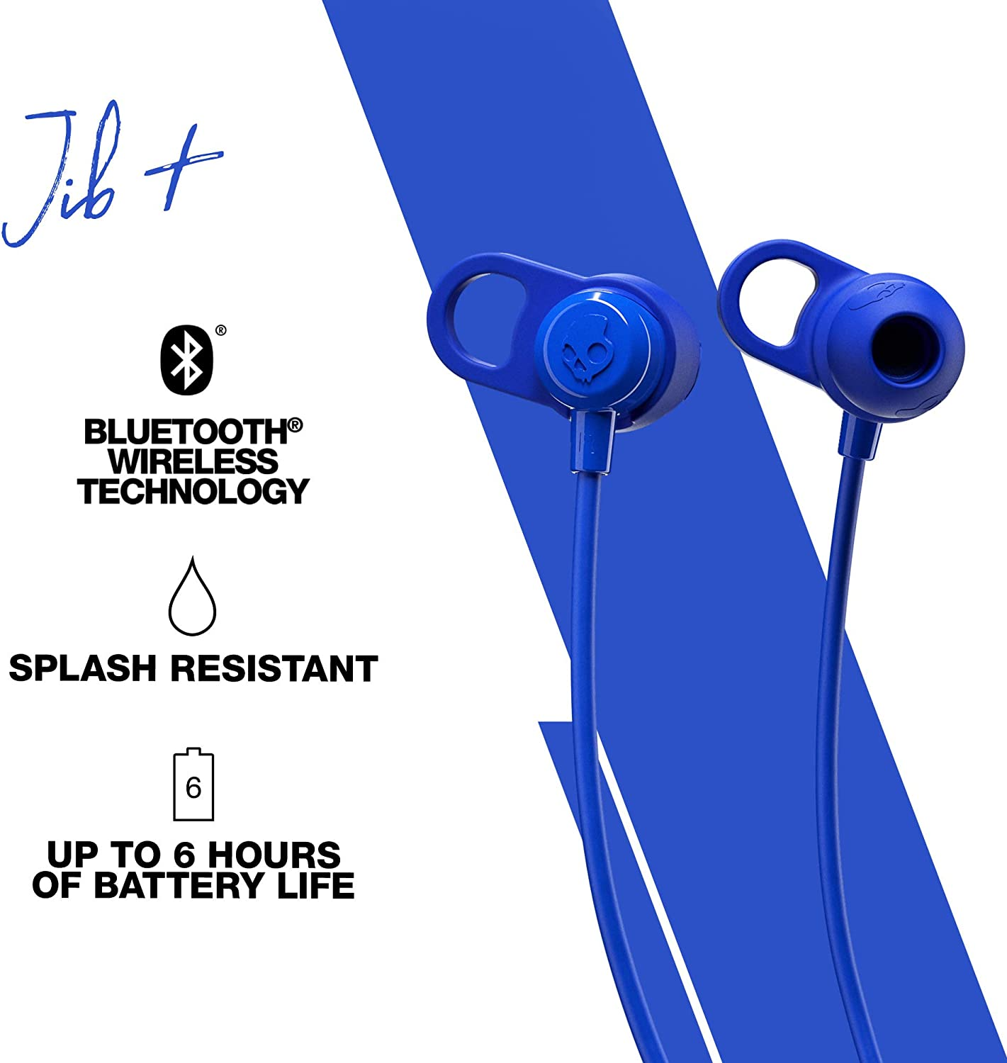 Skull Candy JIB BT BleuEcouteurs intra-auriculaires