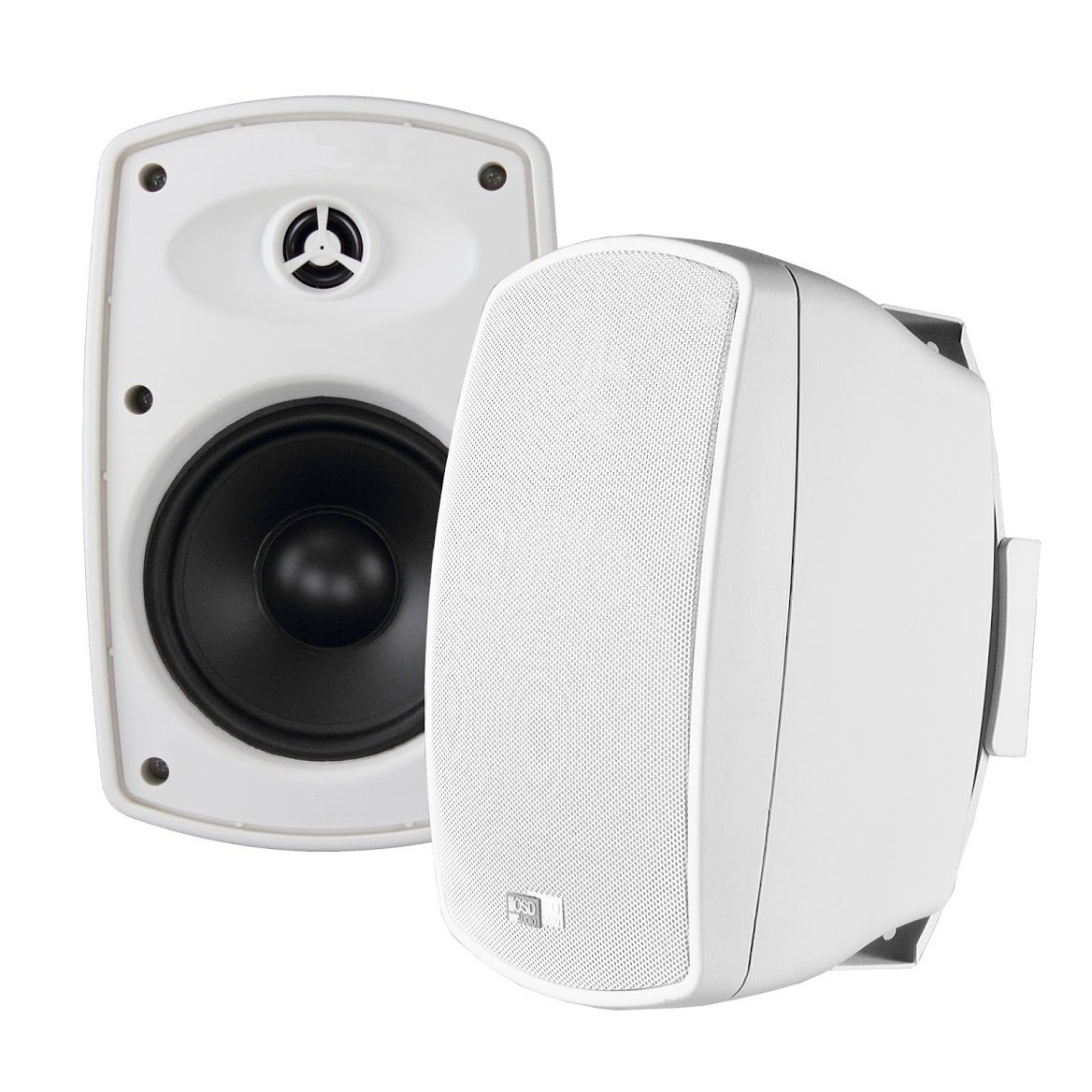 AP650 6.5-Inch 150W High Performance Composite Resin Low Resonator Cabinet 2-Way Indoor/Outdoor Weather-Resistant Patio Speakers - OSD Audio - (Pair, White)