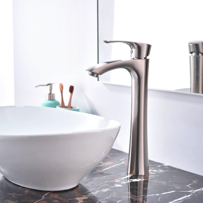 US Single Handle Black Above Counter Faucet Bathroom Basin Sink Vanity Mixer Tap
