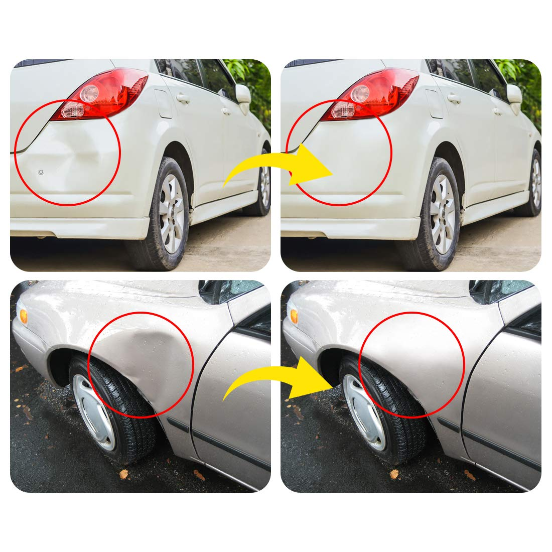 Minor Dent and Deep Dent Removal Manelord Auto Body Dent Repair Kit Car Dent Puller with Golden Dent Puller for Auto Body Dent Removal