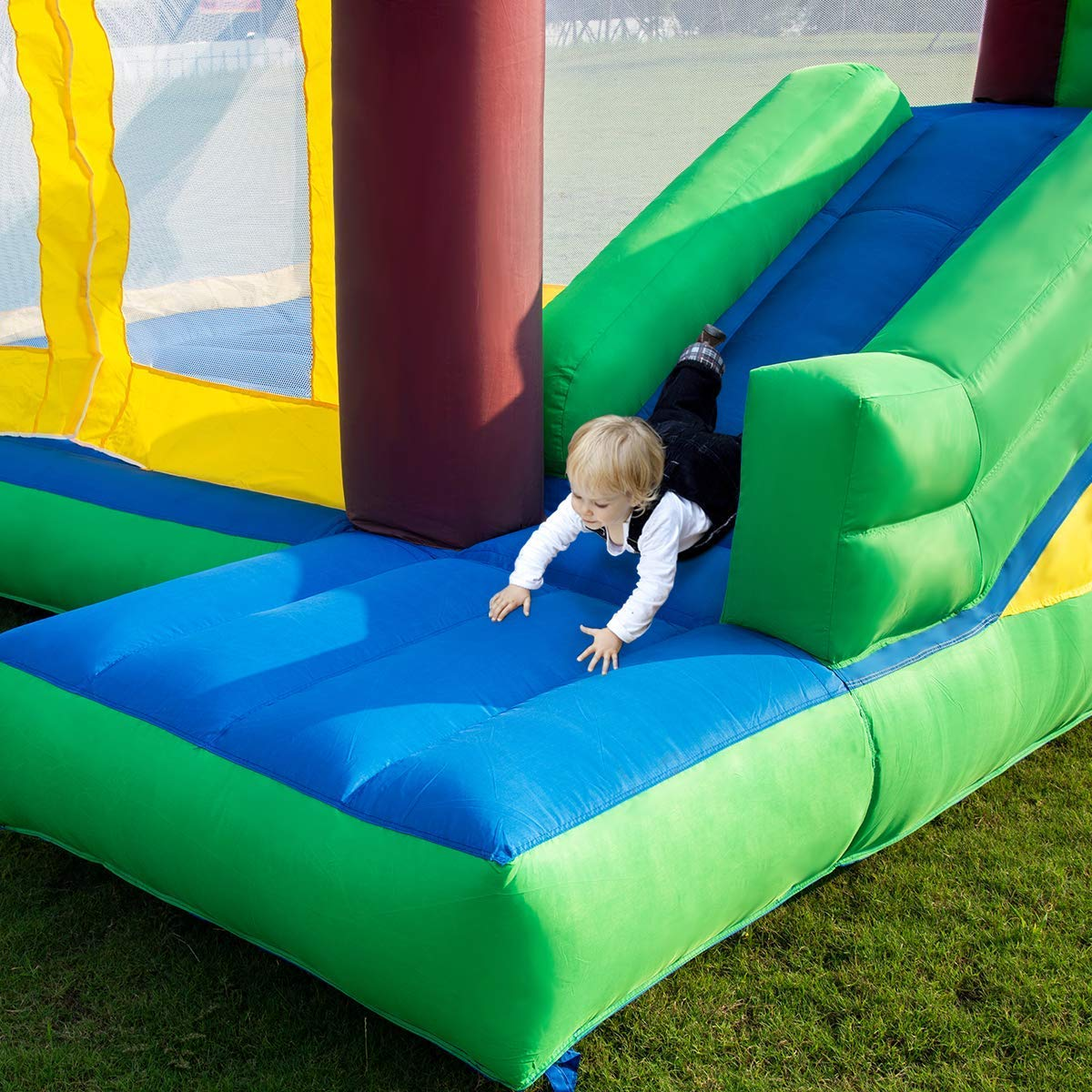 Costzon Inflatable Jungle Bounce House Jump and Slide Bouncer Castle (Bouncer with 950W Blower) by Costzon (Image #4)