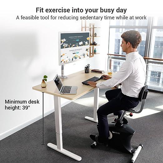 amazoncom loctek u2 fitness under desk magnetic recumbent bike with back rest sports u0026 outdoors