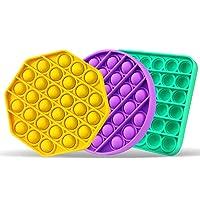 Neo Emporo - Set 3 - Juguete Anti estrés Pop It Fidget Push Bubble, Juguete Sensorial - Juguetes para niños, Ancianos y…