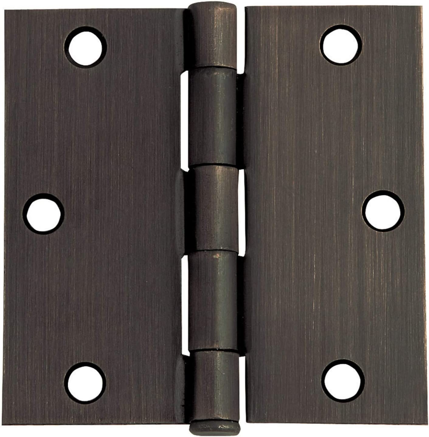 Square - 12 Pack, Black 3.5 x 3.5 Inch Interior Hinges Jhe Door Hinges Oil Rubbed Bronze