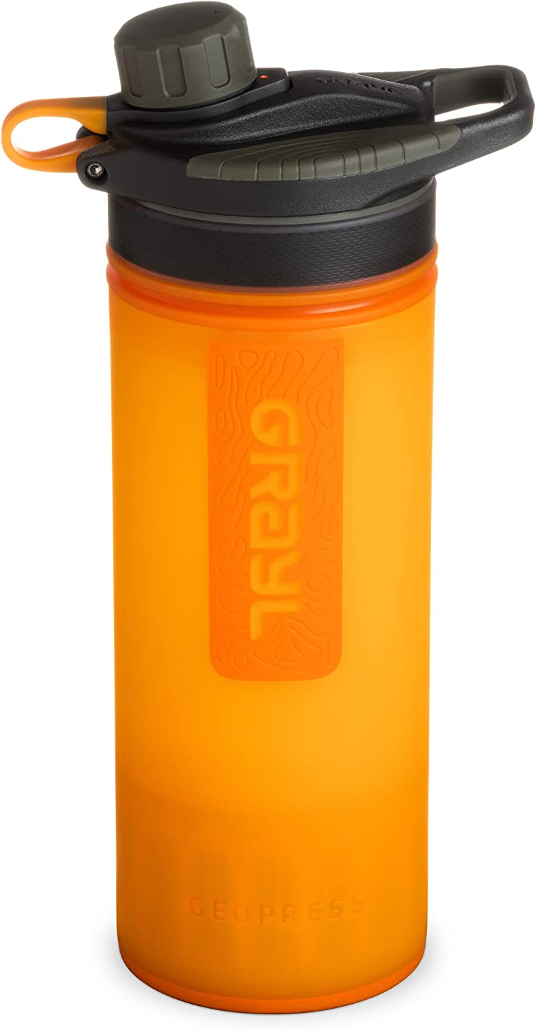 GRAYL Geopress 24 oz Water Purifier for Global Travel Backpacking and Survival Hiking