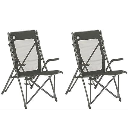2) Coleman ComfortSmart suspensión silla plegable de camping ...