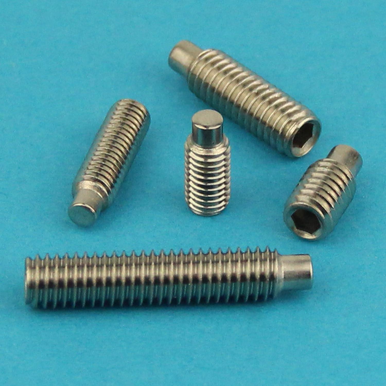 Gewindeschrauben Edelstahl A2 V2A 5 St/ück ISO 4028 - Madenschrauben DIN 915 Eisenwaren2000 M8 x 12 mm Gewindestift mit Innensechskant und Zapfen rostfrei