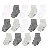 Baby 14-Pack Grow & Fit Flex Zones Cotton Stretch Socks - Unisex, Girls, Boys