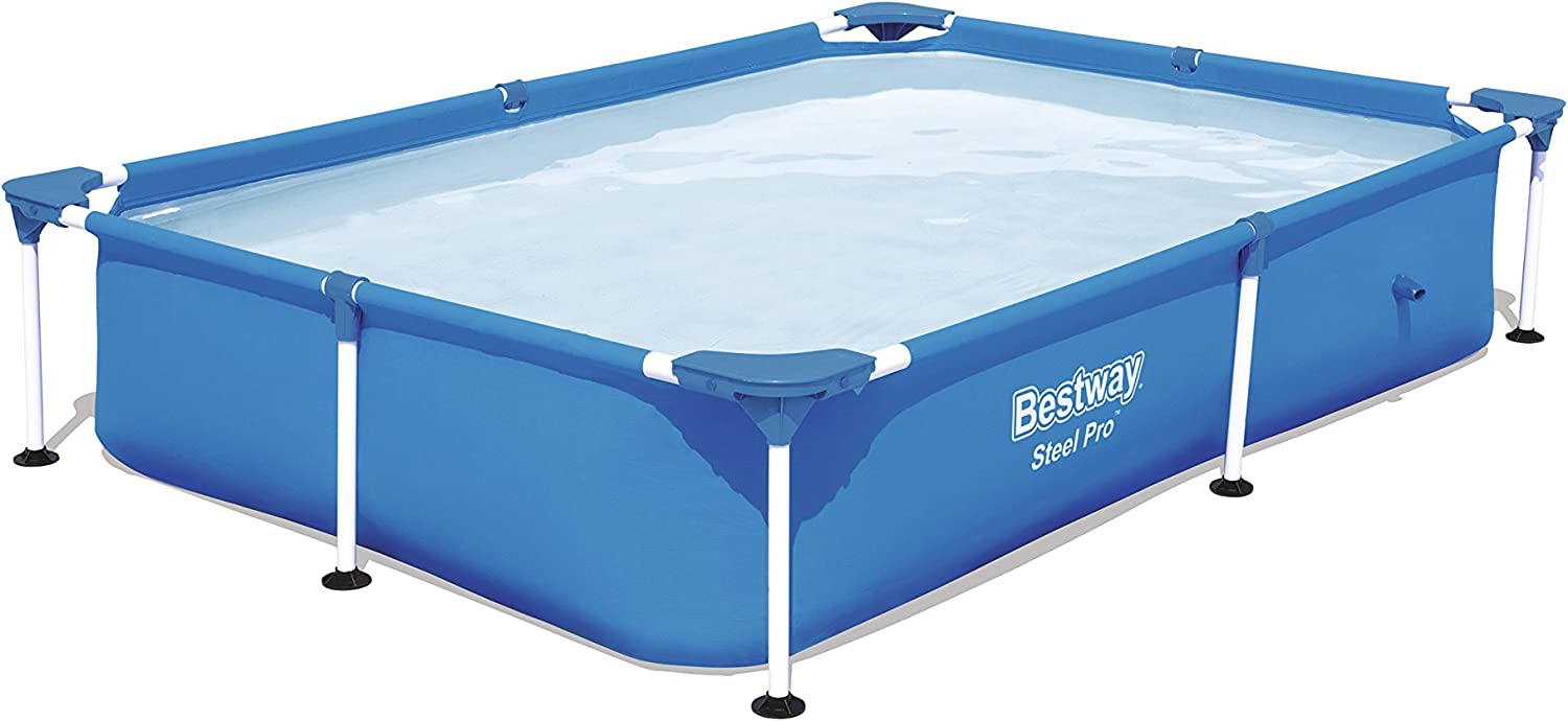 Bestway 56401 - Piscina Desmontable Tubular Infantil Splash Jr. Frame Pool 221x150x43 cm: Amazon.es: Jardín
