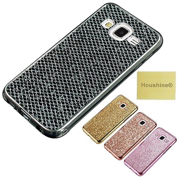 Galaxy J7 (2016)/Samsung SM-J710F Glitter TPU Case,ZHFLY Premium  Electroplated Bumper Bling Soft Cover Case for Samsung Galaxy J7 6, Black