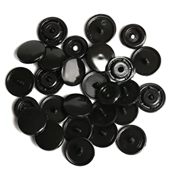 LIHAO Botones Redondos de T5 Plástico para Sujetar y DIY (100 Botones,Negro): Amazon.es: Hogar