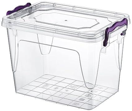 2 x grande 20 litros claro caja de plástico transparente ideal para cocina/comida/