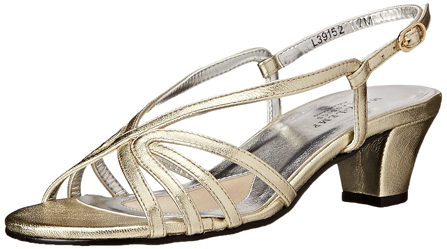 Walking Cradles Mark Lemp by Women's Leash Dress Sandal B00EJGYUA2 8 W US|Gold Nappa