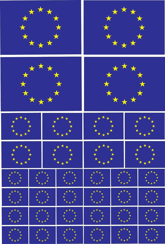 Various Sizes The Classic Image Company EU Flag//European Union Flag EU Themed Multi Pack Vinyl Stickers