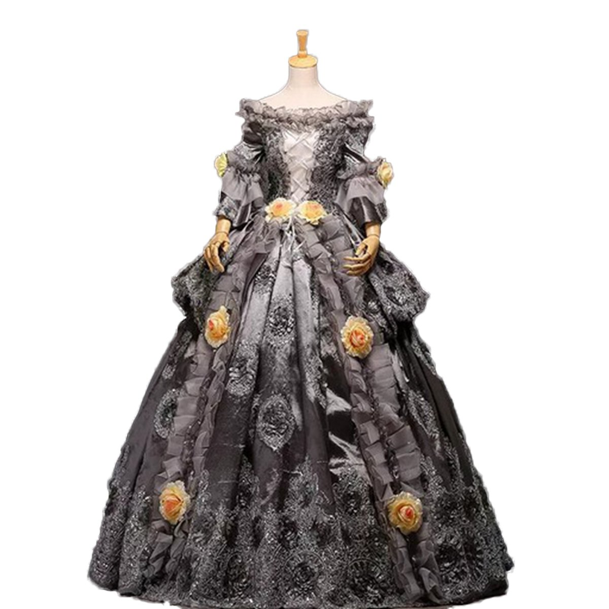 Amazon.com: Gray Hallowmas Medieval Dress Renaissance Costume ...