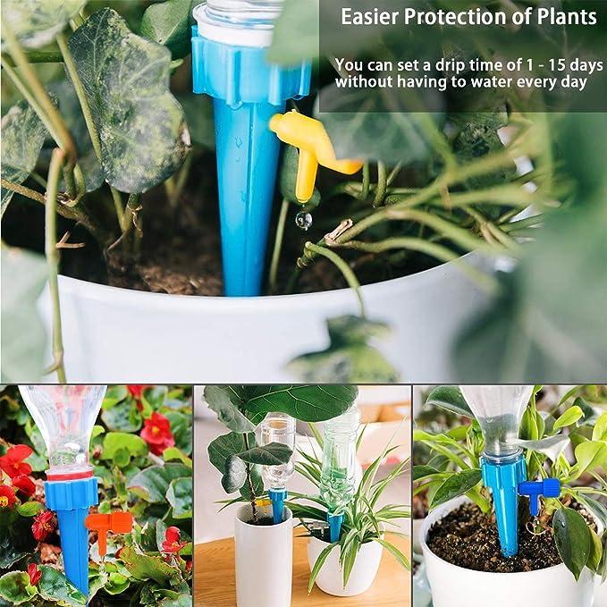 ZGBQ 3pcs Self Watering Spike Planter Drip Irrigation Watering Spikes,Automatic Watering Irrigation Garden Bird Plant Flower Sprinkler Drip Water