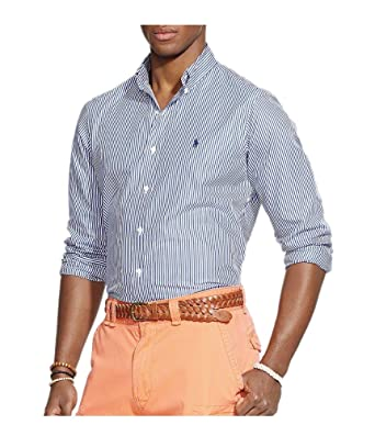 931e99dec Polo Ralph Lauren Men s Classic-Fit Hairline-Striped Poplin Sport ...