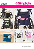 Simplicity Patterns Wheelchair and Walker Accessories Designed by Faith Van Zanten, 2822