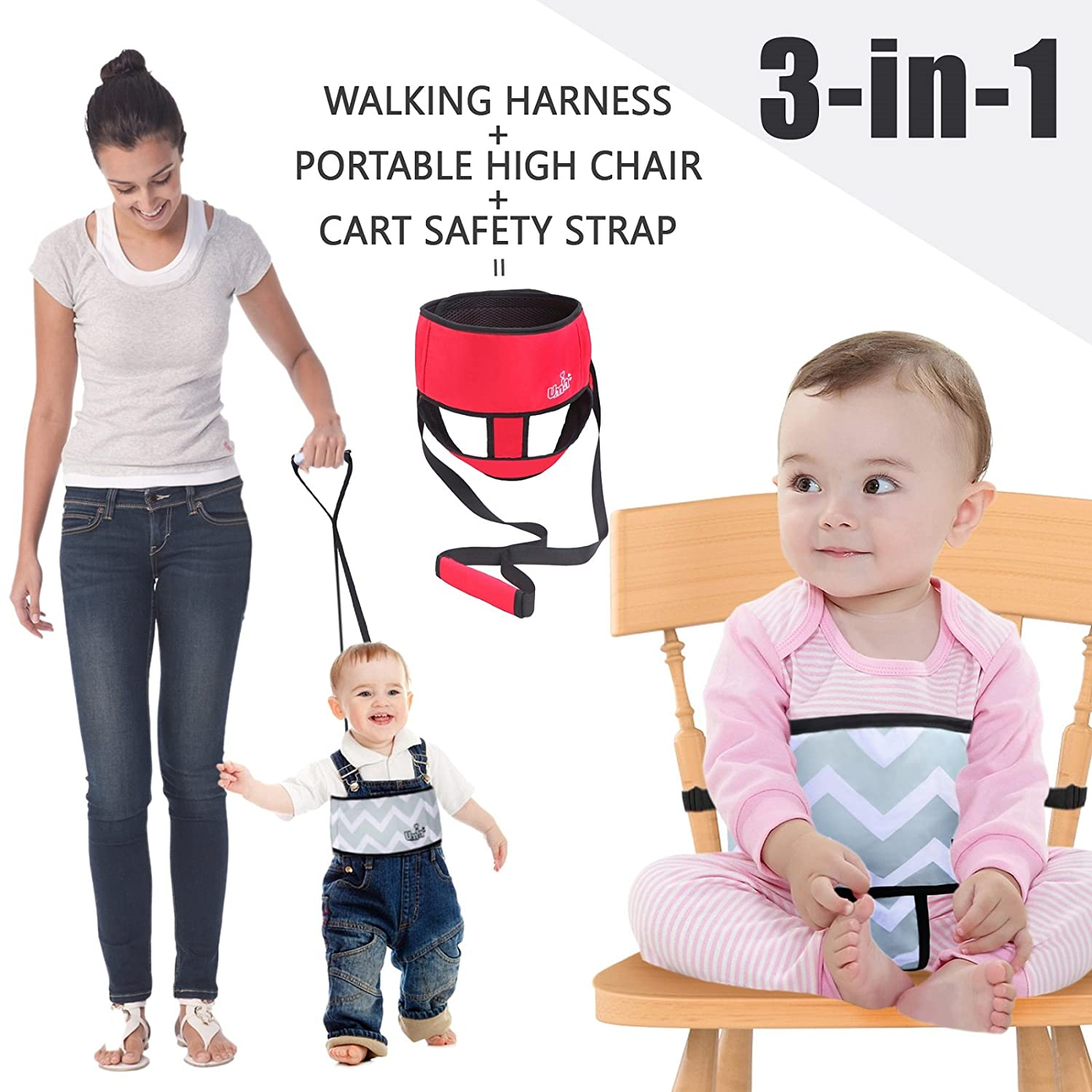 3 Point Harness Safety Seat Belt Adjustable for Baby High Chair Cart