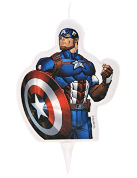 Generique Vela de cumpleaños Los Vengadores Capitán América ...