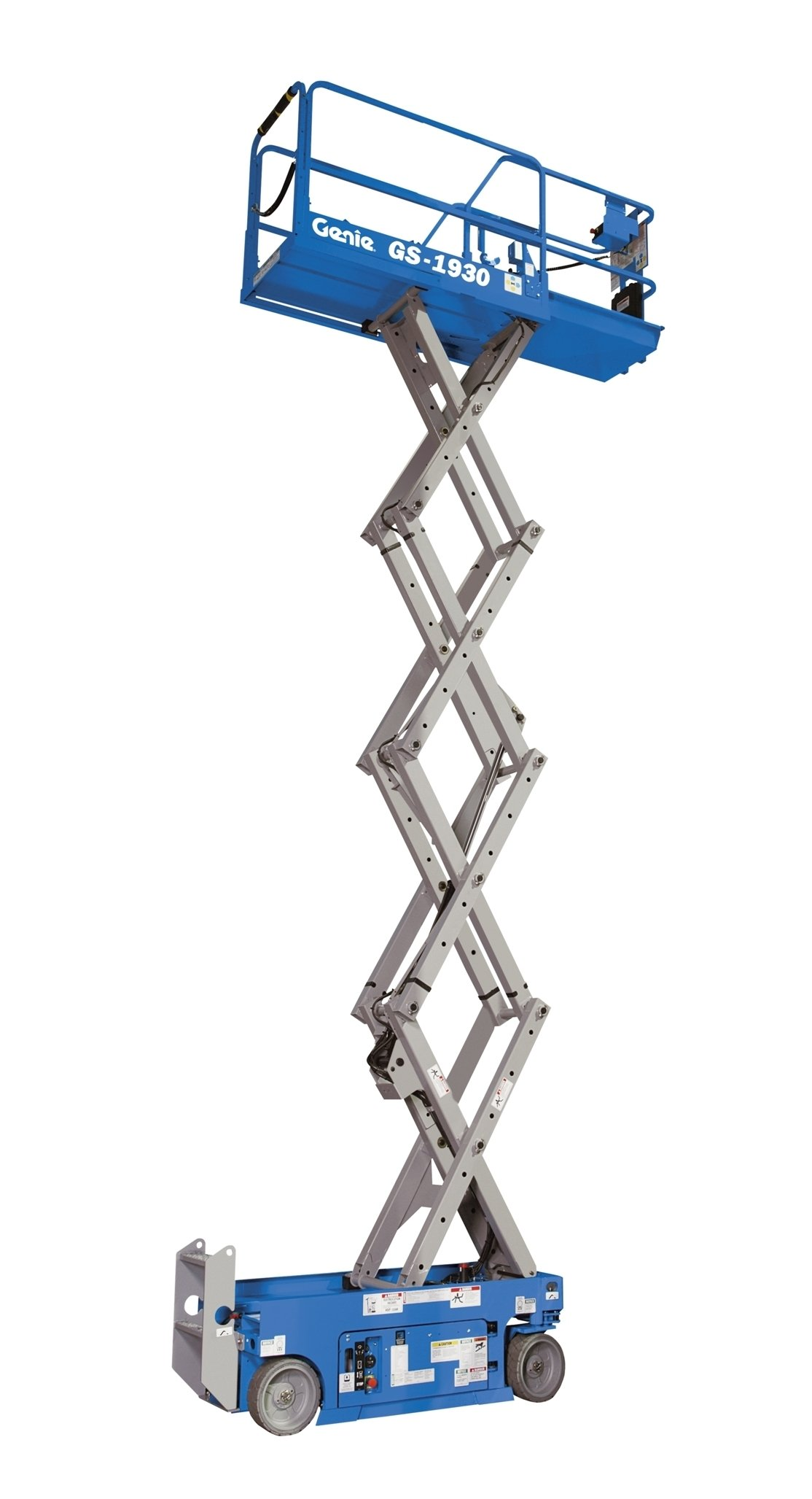 Genie GS-1930 Self-Propelled Electric Scissor Lift, 500 lbs Platform Load Capacity, 19' Lift Height by Genie