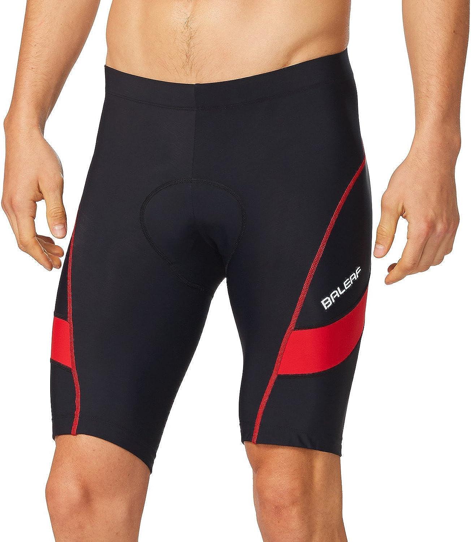 BALEAF Men's Cycling Shorts 3D Padded Bicycle Bike Quick-Dry Pants Tights UPF 50+: Clothing