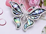 Alilang Silvery Tone Abalone Clear Crystal