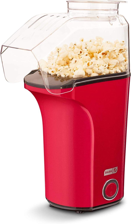 DASH DAPP150V2RD04 Hot Air Popper Popcorn Maker, 16 cups, Red