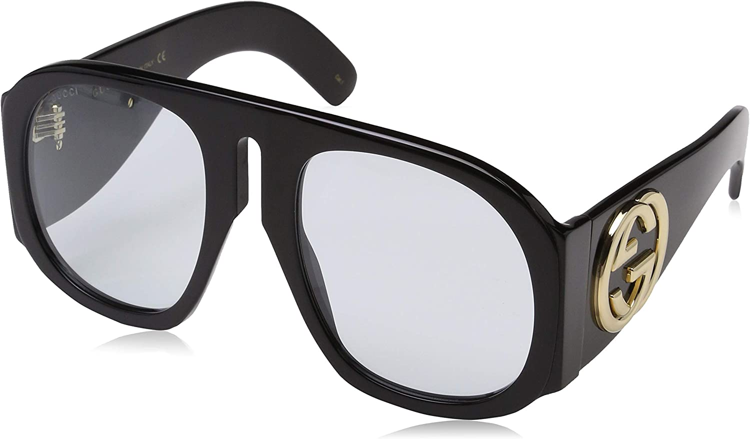 Gucci GG0152S 001 Gafas de sol, Negro (Black/Light-Bluee), 57 para Mujer