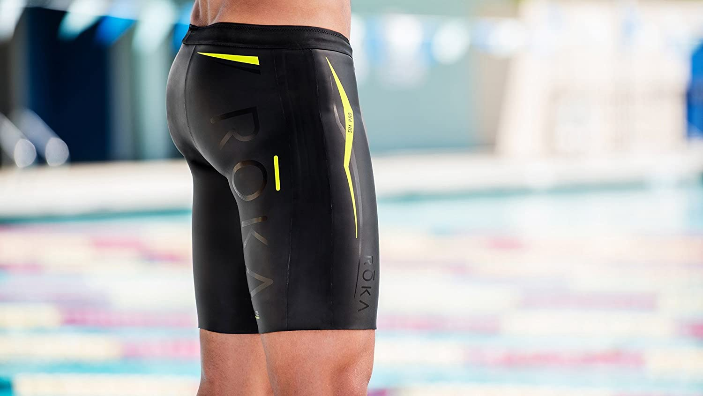 17e4c0537c ROKA Men's SIM Pro II Neoprene Buoyancy Shorts for Swimming and Triathlon - Acid  Lime - Extra Large (XL): Amazon.co.uk: Sports & Outdoors