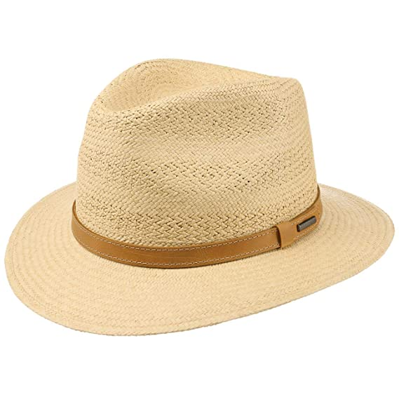 72124c9549e7a2 Stetson Lexerell Traveller Panama Hat Sun Beach (M (56-57 cm) - Nature):  Amazon.co.uk: Clothing