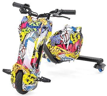 CARS12V Triciclo eléctrico Drift Scooter 360 Patinete para niños, GRAFITY: Amazon.es: Deportes y aire libre