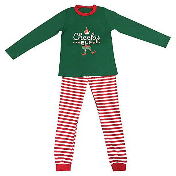 Elf Pyjamas Christmas Family PJs Matching Set Dad Mum Cheeky Little Elves  Men Women Girl Boy Xmas Nightwear Outfit  Amazon.co.uk  Clothing c901cf57c