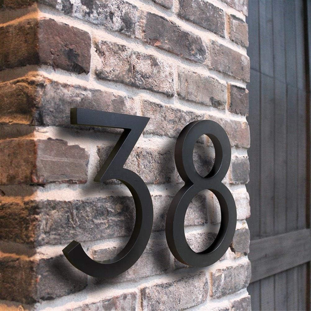 Color : 3, Size : 15cm LBY Negro Grande N/úmero Casa Flotante sesi/ón 15cm n/úmeros de Puerta Moderno Edificio Direcci/ón Se/ñalizaci/ón Exterior de la Placa