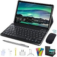 """Tablet de 10.1"""", 2 en 1 con funda para teclado Quad Core 1.3Ghz, Android 9.0 GO, pantalla IPS HD 1280 x 800, tipo C, BT4…"""
