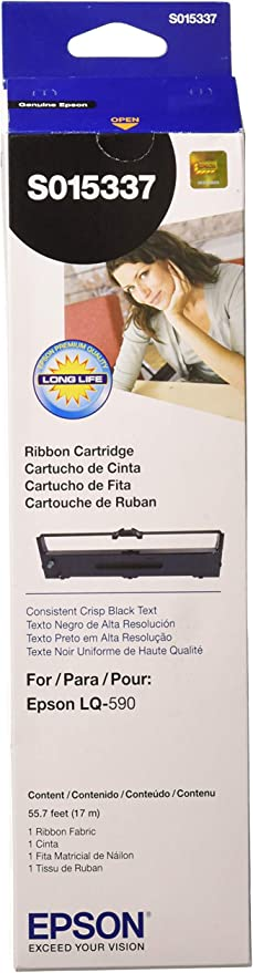 EPSON EPSS015631 EPSON BR LX350 Matrix 1-Black Printer Ribbon