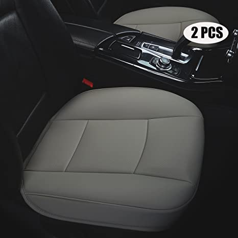 Amazon Com Dinkanur 2 Pcs Edge Wrapping Auto Seat Covers Pu Leather