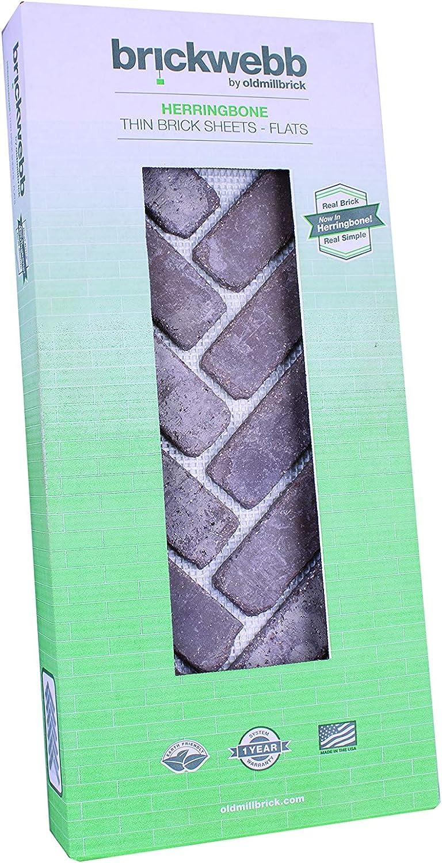 Flats - Rushmore Box of 5 Sheets Brickwebb Herringbone Thin Brick Sheets