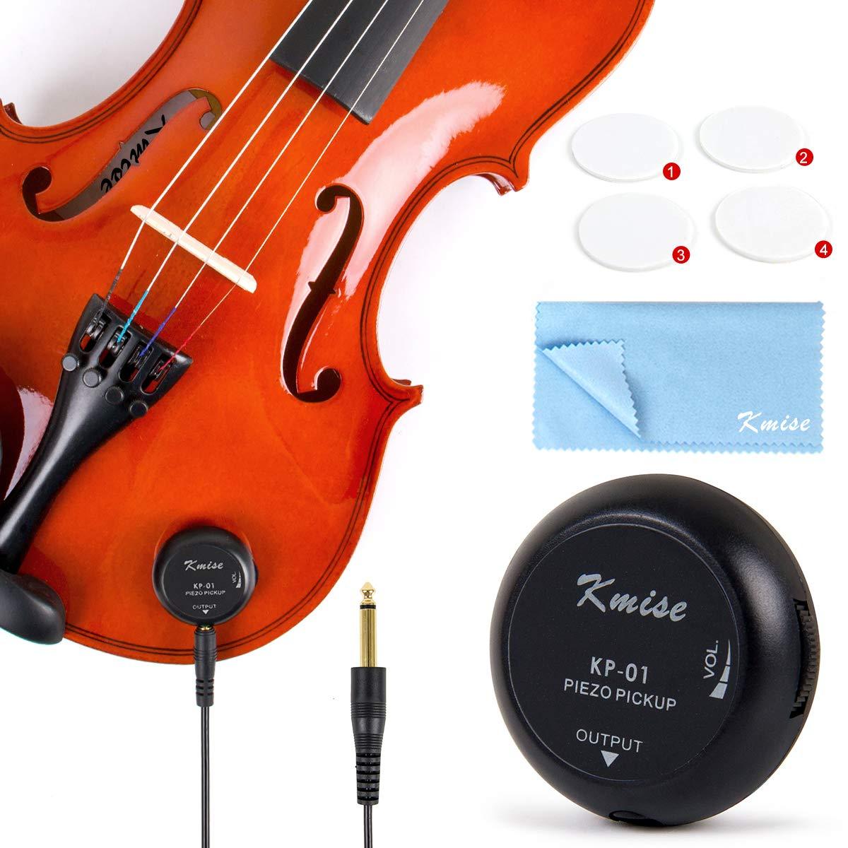 Vzer 5 Pcs Piezo Contact Microphone Mic Pickup for Guitar Violin Viola Cello...