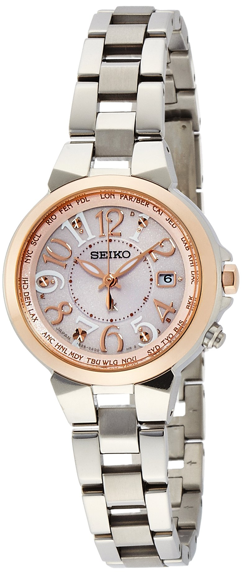 SEIKO WATCH LUKIA Mass-media model Lucky passport Solar sapphire glass super clear coating SSQV004 Lady's by SEIKO