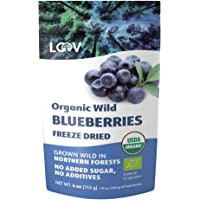 LOOV Wild Organic Dried Blueberries, no Added Sugar, no Added Oil, 113 g, Freeze Dried Blueberries Organic From Nordic…