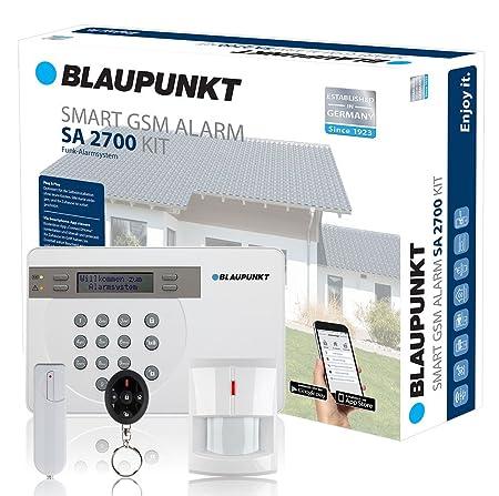 Blaupunkt - SA 2700 - Kit alarma de seguridad. transmisión via GSM 100% analámbrica, App Gratuita Connect2Home.