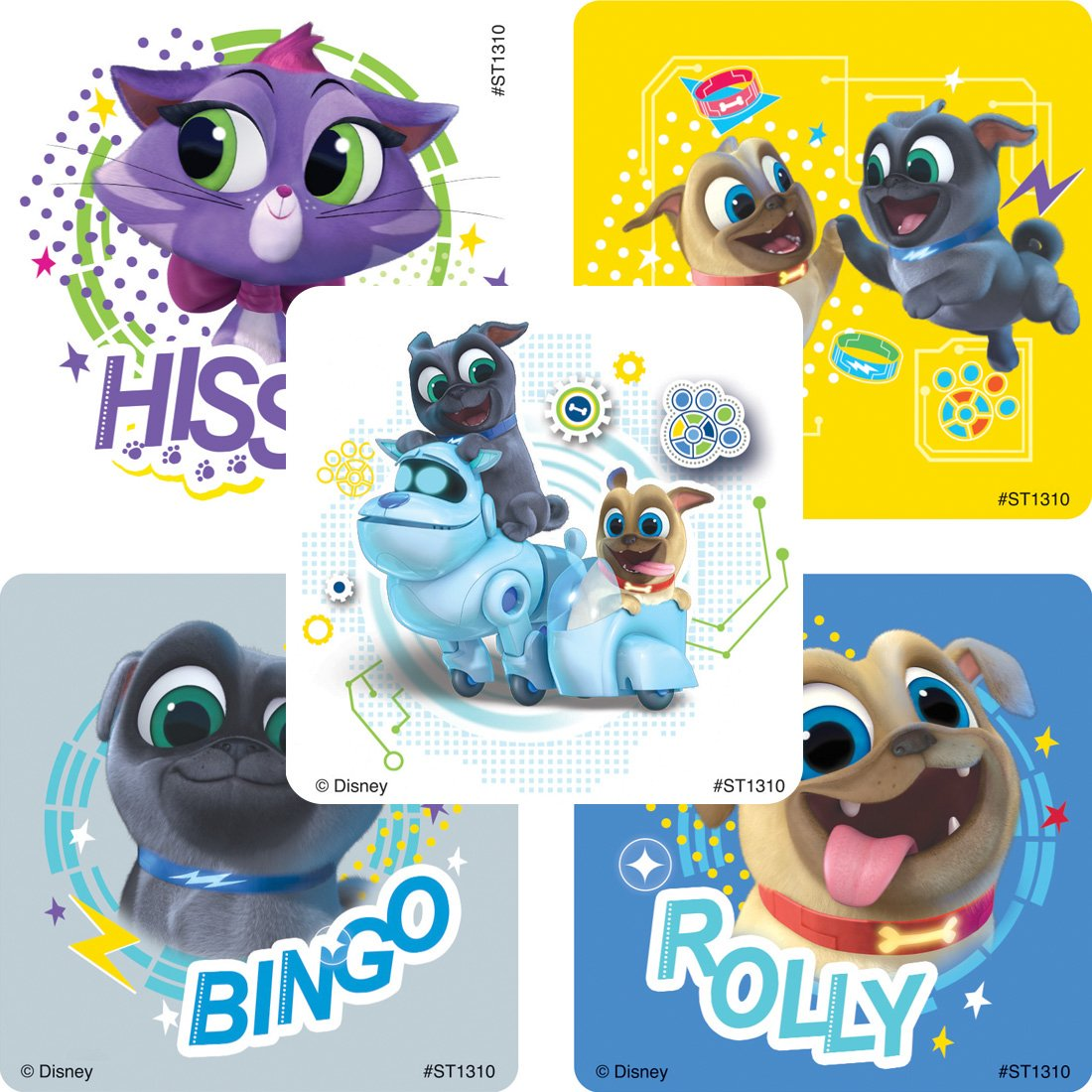 SmileMakers Puppy Dog Pals Stickers Prizes 100 Per Pack