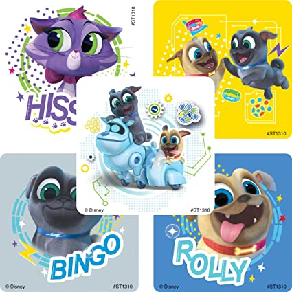 Amazon Com Smilemakers Puppy Dog Pals Stickers Prizes 100 Per