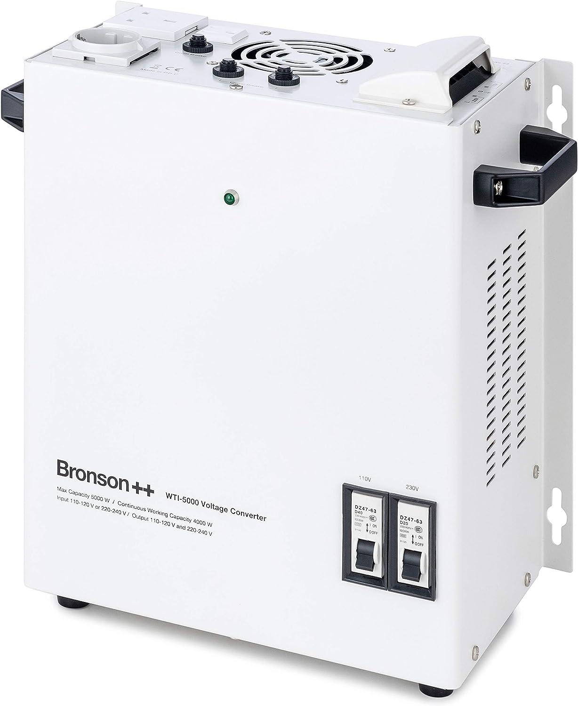 WTI 4000 Transformateur 110 Volts Convertisseur de Tension USA 4000 Watt Bronson+ 110 V ou 220 V//Sortie Entr/ée 110 V et 220 V