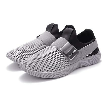 Zapatillas Running para Hombre, Gracosy Sneakers Calzado Deportivo Aire Libre Deportes Fitness Casual Sneakers Gimnasia Ligero Trenzado Zapatos Correr ...