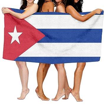 Polo bandera de Cuba toalla de baño de playa para cubrir cómodamente: Amazon.es: Hogar