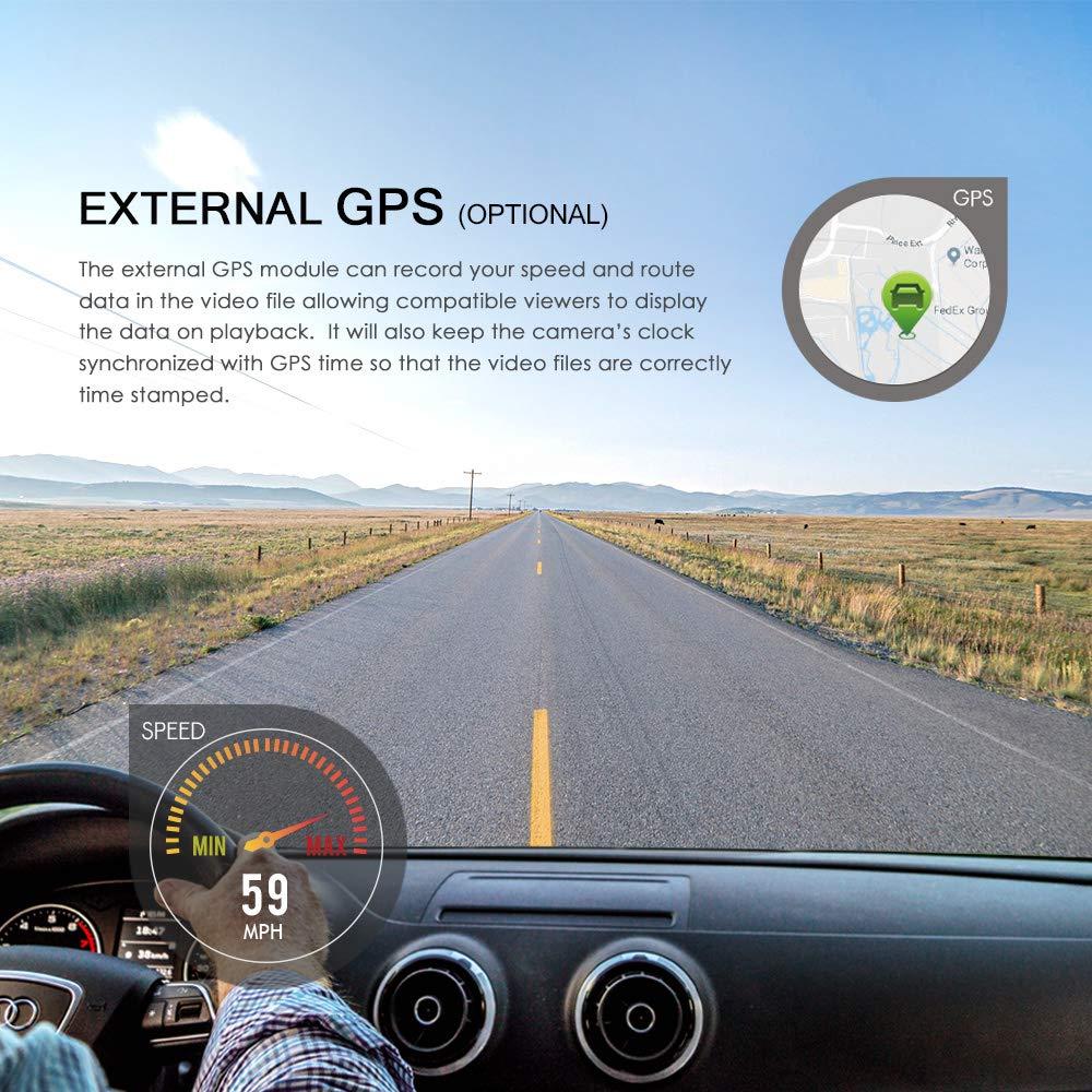 C/ámara de salpicadero Doble VIOFO A129 Duo Full HD 1080P Frontal y Trasera WiFi c/ámara para salpicadero de Coche con Soporte de GPS Logger 256 GB MAX