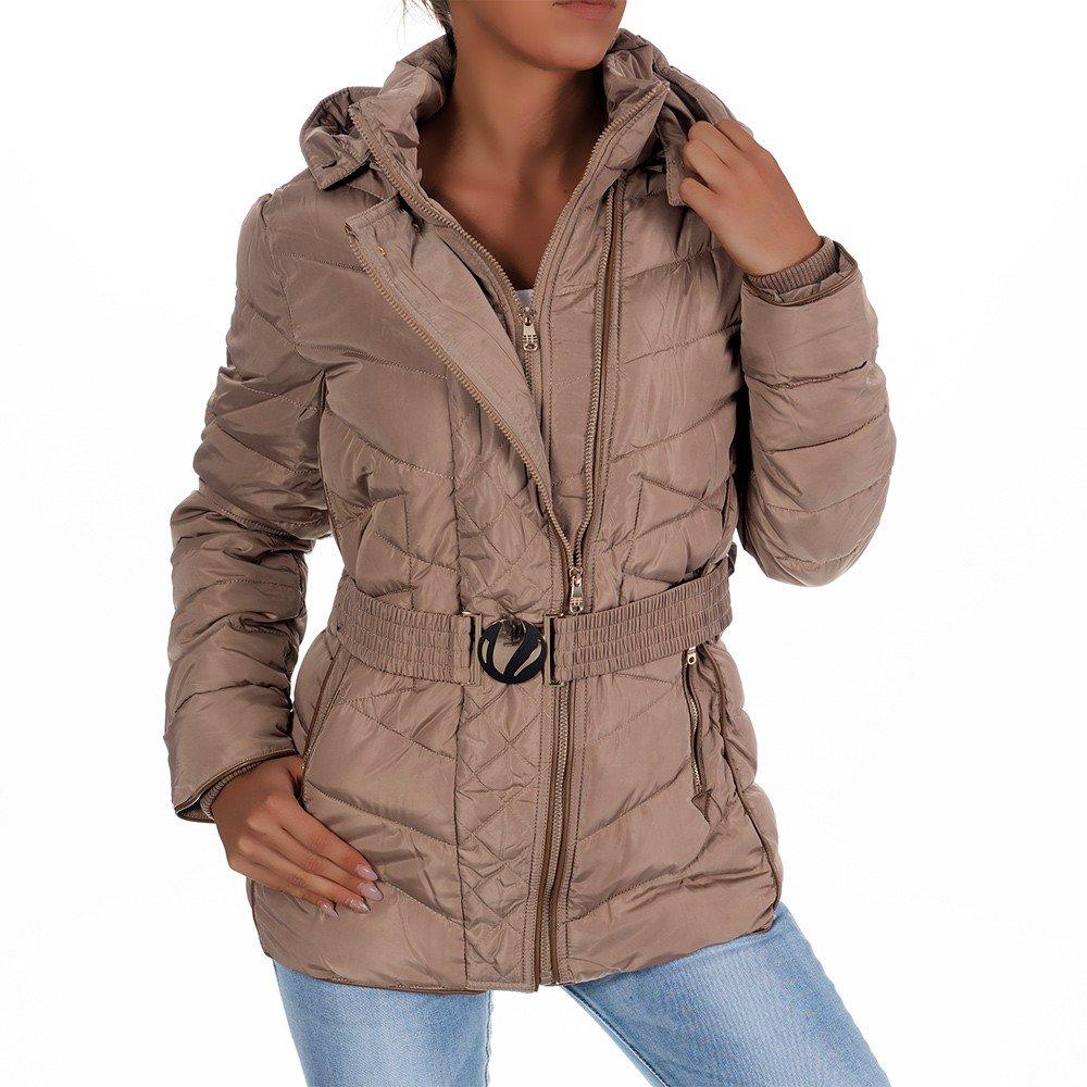 H431 Damen Winter Jacke Steppjacke Parka Jacket Daunen Look Winterjacke